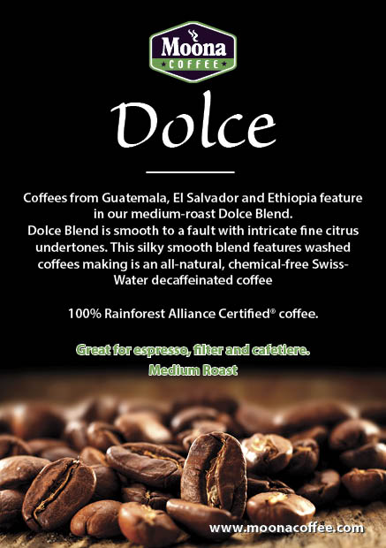DOLCE Blend (Decaffeinated) – Medium Roast